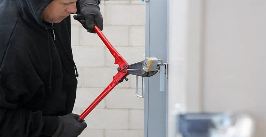 Cut A Lock Off of a Storage Unit