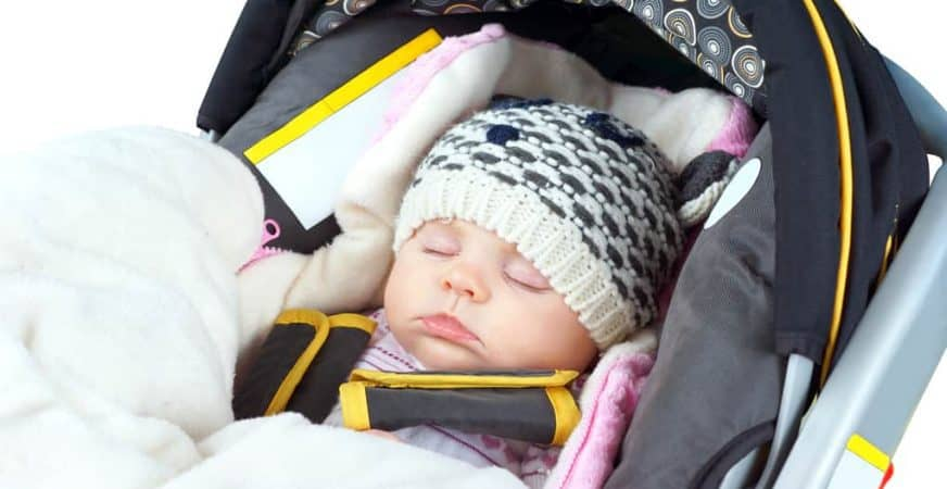 How to make baby car seat cover